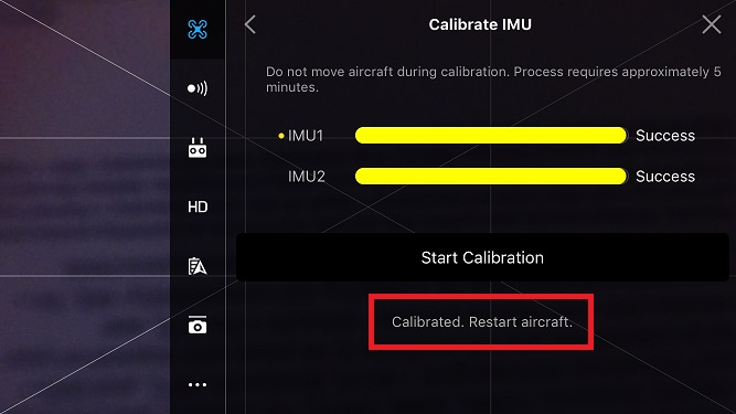 IMU calibration will not work after todays official update