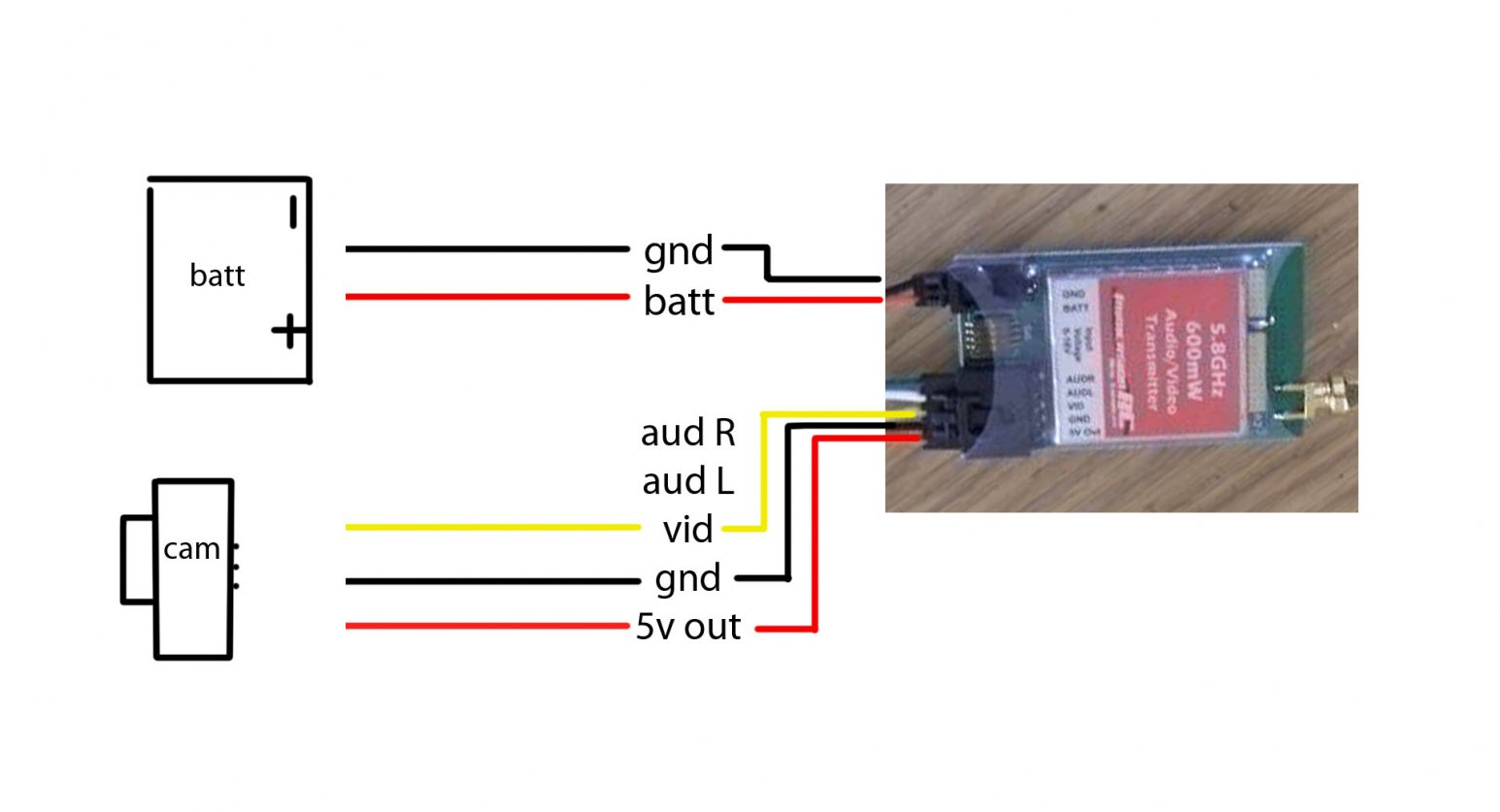 Fpv Wiring Diagram For 600mw 5 8 Transmitter Explained Diagrams Burned Out After Iosd Install Dji Phantom Drone Forum