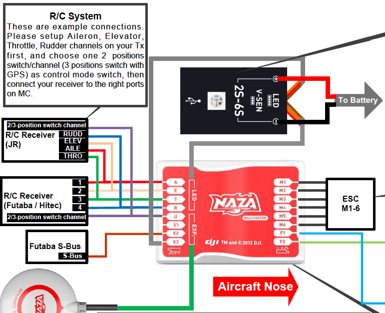 dji gps wiring diagram wire center u2022 rh regalton co Phantom Naza V2 Wiring Diagram 1 Naza M Lite ESC Wiring-Diagram