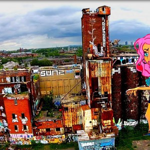 Drone flying by an old malting plant, Montreal,Quebec, CANADA - YouTube