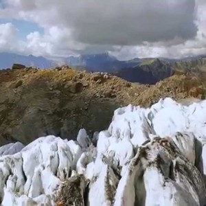 A drone flies through the Bossons glacier in Chamonix Mont-Blanc - YouTube