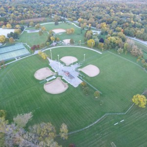 Above Wirth Park Ball Diamonds