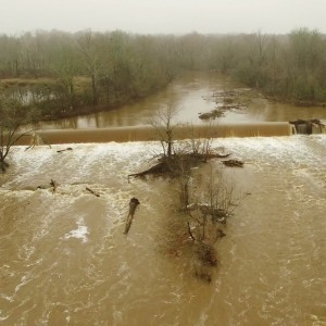 Foggy Day Aerial View of the Rain Swollen Haw River - Burlington, NC - YouTube