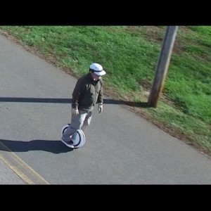 Aerial View of the Ninebot One Electric Unicycle in Action - YouTube