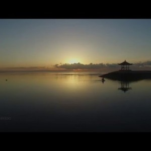 Sunrise at  Sanur Beach Bali