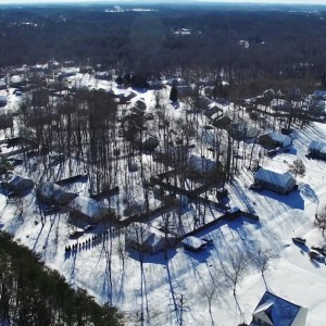 DJI Phantom 3 Professional - Beautiful Snow Covered Countryside - YouTube