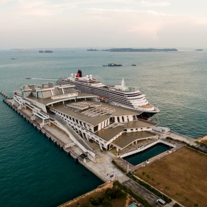 Queen Victoria Docked in Singapore