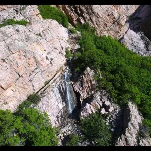 Willard Canyon Waterfalls by Phantom 4 Drone - YouTube