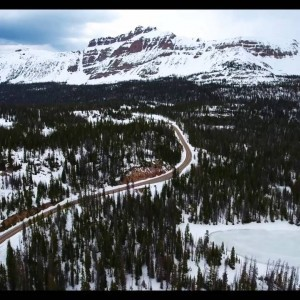 High Uintas snow via Drone - YouTube