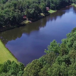 Updated Aerial View of Overlook Lake in Strayhorn Hills Subdivision - Hillsborough, NC - YouTube