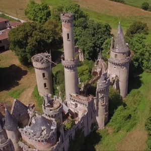 Aerial / ground footage Chateau de Bagnac - YouTube