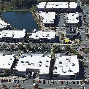 Aerial View of Alamance Crossing & University Commons Shopping Centers - Burlington, NC