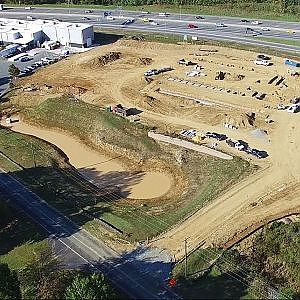Aerial View of New Construction at Red Oak Brewery