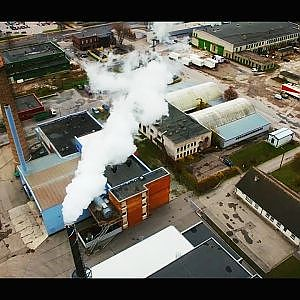 Cinematic Drone Video of Factory and City [4k] - YouTube