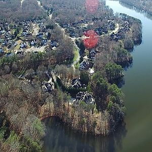 Aerial Views of Lake Jeanette & Eastern Shores Dr.- Greensboro, NC