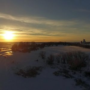 Frozen Sunset, Patterson Lake, Dickinson, ND, USA [P3A]