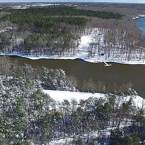 Aerial Views of Guilford-Mackintosh Park After the Snow - Whitsett, NC