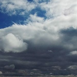 Beautiful Sky View of Mixed Clouds