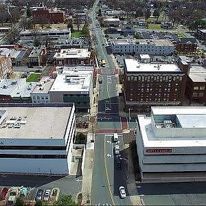 Aerial Views of Downtown - Burlington, NC