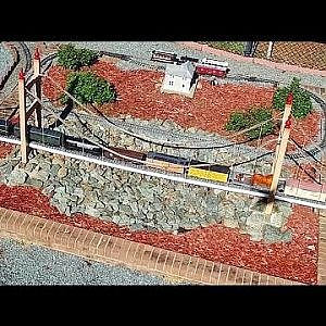 Aerial Views of the Gibsonville Garden Railroad - Gibsonville, NC