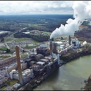Aerial Views of Dominion Virginia Power/Chesterfield Power Station - Chester, Va.