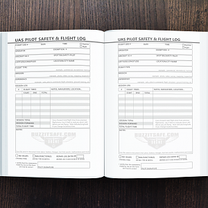 Ultimate UAS / Drone Pilot Logbook: Log page sample