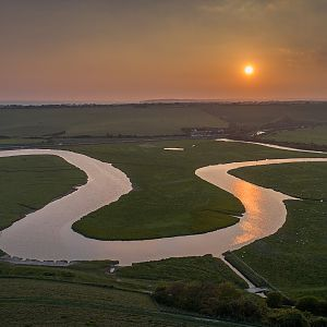 Cuckmere River, Seven Sisters Country Park, East Sussex, England