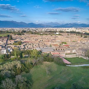 Pompeii from the air
