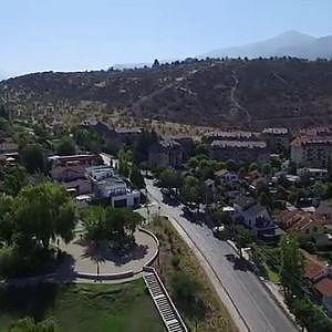 Phantom 3 Advanced aerial view at General Blanche Avenue in Santiago de Chile
