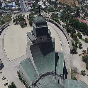 Phantom 3 Advanced aerial view at Votive Temple of Maipú in Chile
