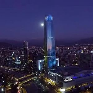 Phantom 3 Advanced aerial view of Santiago de Chile
