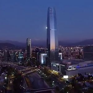 Phantom 3 Advanced aerial view at Costanera center in Santiago de Chile