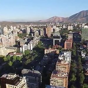 Phantom 3 Advanced aerial view of Santiago de Chile the richest in South America