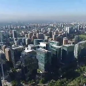 Phantom 3 Advanced aerial view at Araucano Park in Santiago de Chile