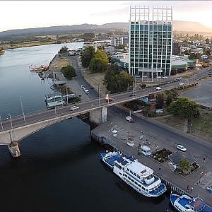 The amazing aerial view of Valdivia Province in Chile