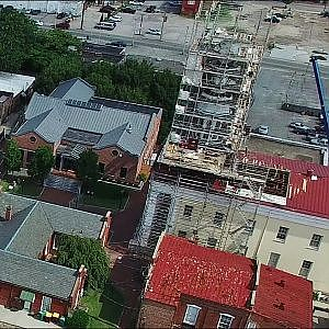 Aerial Tour of Downtown - Petersburg, Va