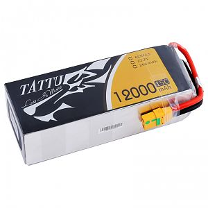 Tattu 12000mAh 6S1P 15C Lipo Battery Pack for Dji S800,900,1000