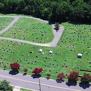 Aerial Views of Appomattox Cemetery - Hopewell, Va