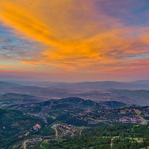 Sunset Over Park City, Utah