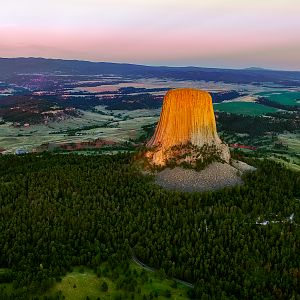 Sunset at Devil's Tower National Monument