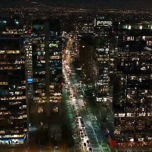 Never seen before City lights in Santiago with DJI Spark