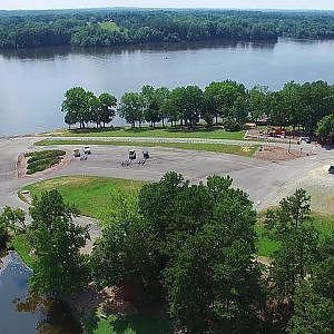 Lake Cammack Park & Marina - Venue of the 2017 Mission Man Triathlon