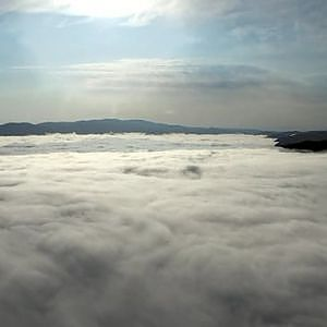 Morning fogs over the landscape on Vimeo