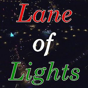 Flight Over the Twin Lakes' Lane of Lights - Burlington, NC