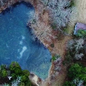 Winter's Day Flight Over Frozen Ponds - Eastern Guilford County, NC