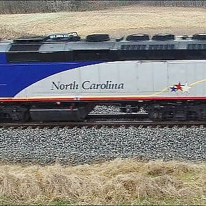 Amtrak #74 Piedmont - Rolling Through McLeansville, NC