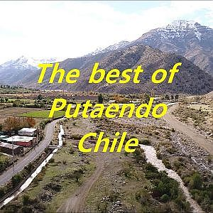 Drone aerial view of Putaendo, Chile