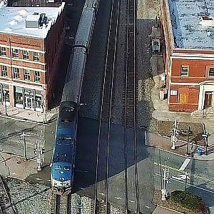 Amtrak #80 Carolinian Arriving & Departing at J. Douglas Galyon Rail Depot - Greensboro, NC