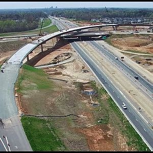 Latest Aerial Views of I-785/I-840 Northeastern Urban Loop Interchange Construction - Greensboro, NC