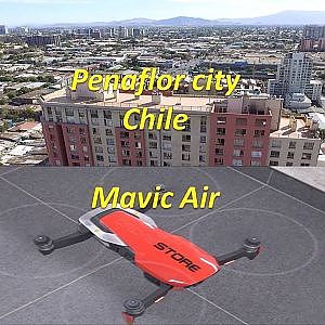 Mavic Air aerial view at Peñaflor city in Chile